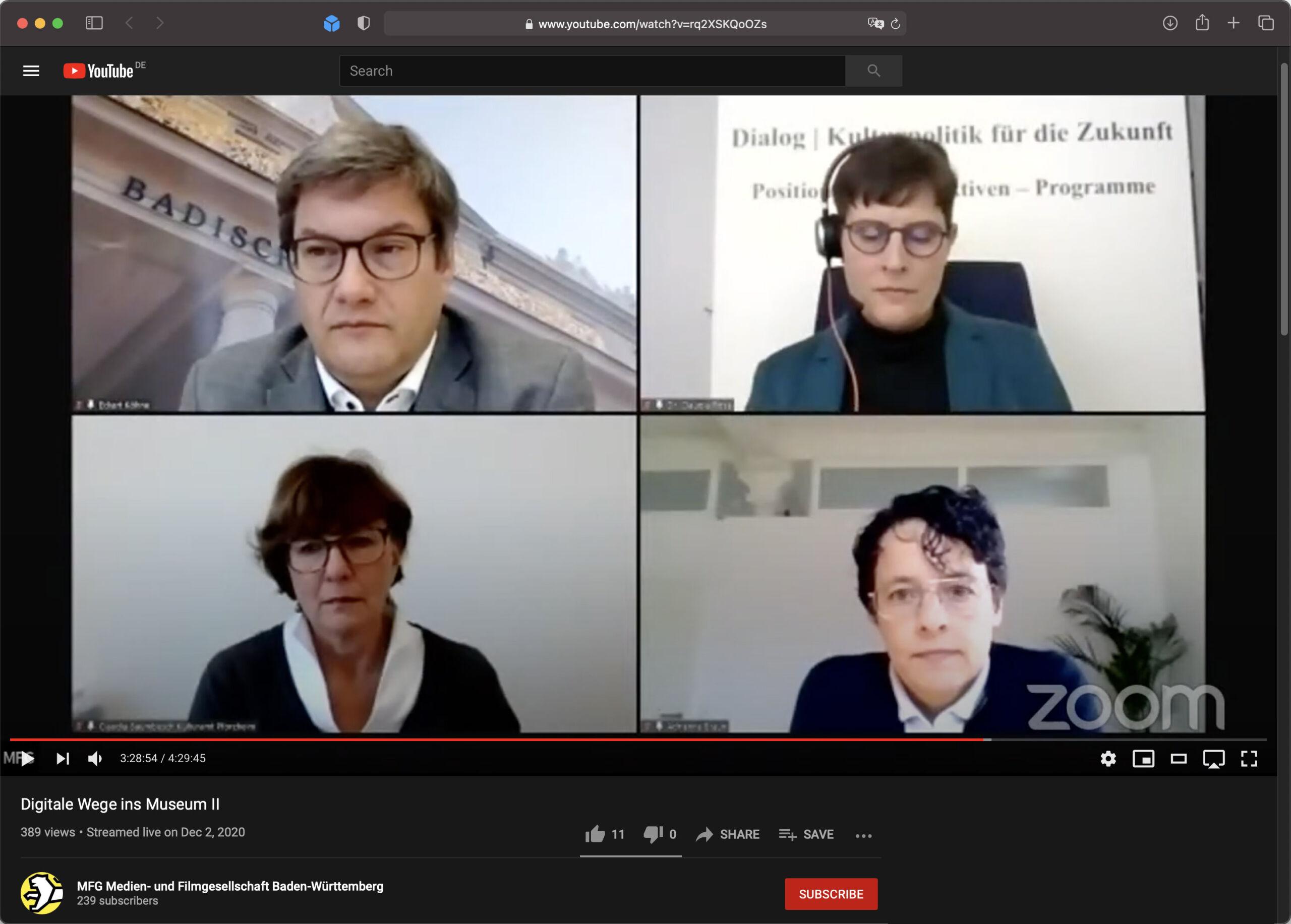 Claudia Baumbusch auf Podium der MFG